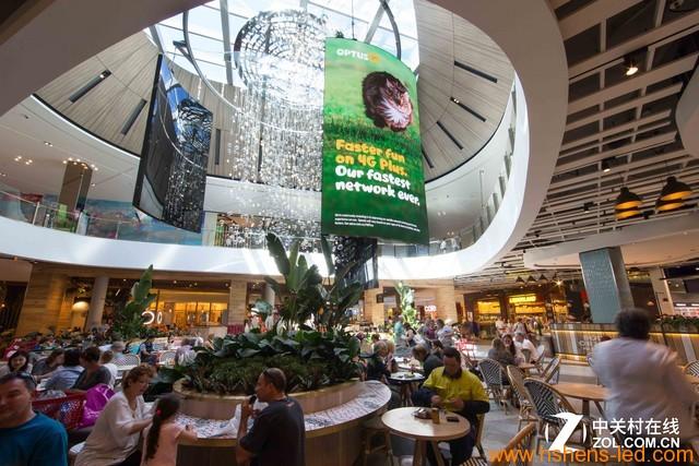 澳洲第四大商场部署巨型曲面LED大屏幕